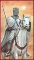 Templar on White Horse by dashinvaine