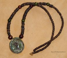 World Tree necklace by lupagreenwolf