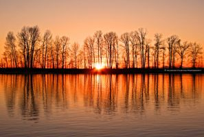Cold Winter Sunset by Val-Faustino