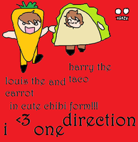 Harry the Taco and Louis the Carrot by thejellybeanposse