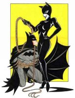 Catwoman and Batman by BatgirlofGotham