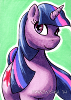 Twilight Sparkle Art Card by TwinEnigma