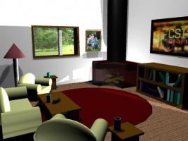 Living Room in 3D 2 by AnimeGal2010