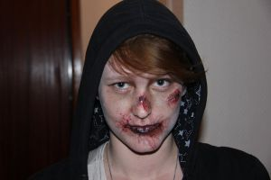 Zombie attempt on my friend by MorningGlory34