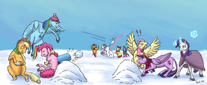 Winter Ponies by TheSpectral-Wolf