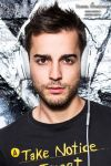 Attractive brunette man with Headset by DWaschnigPhotography