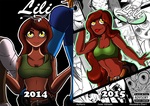 Lili Comic Cover then and now by xJen-Jenx
