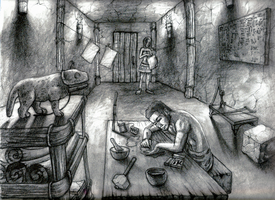 Illustration of Egyptian Home by JRTribe