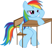 MLP FiM: Rainbow Dash in school by Hoodie-Stalker