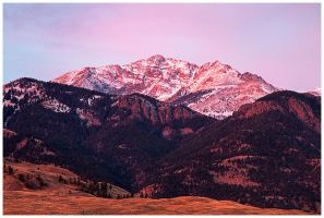 Red Morning Mountain by Julian-Bunker
