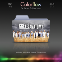 Colorflow TV Folder Icons: Grey's Anatomy by Crazyfool16