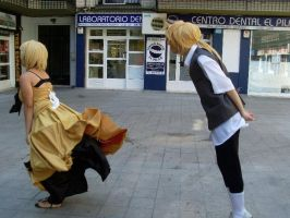 Rin y Len cosplay shoratime saga evil by Shoratime-vocaloid
