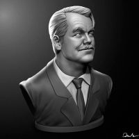 Philip Seymour Hoffman Digital 3d Sculpt. by SupportCOMMAND