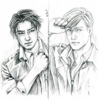 Levi and Erwin by daydreamer-ren