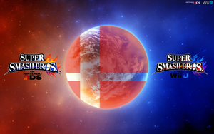 Super Smash Bros. Wii U/3DS Logo Wallpaper #14 by TheWolfBunny