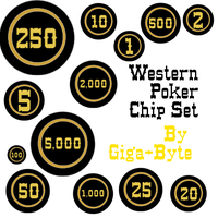 Basic Poker Chip Brushes by Giga-Byte