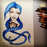 Jinx (legue of legends) by KattyBanga