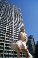 Marilyn over Chicago 2 by NamekAngelIvy