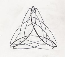 Celtic Triangle Tattoo Design by Qwonk