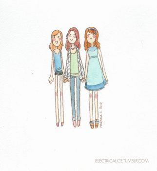 LBD - Lydia Lizzie and Jane by martinacecilia