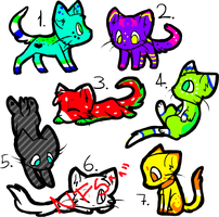 Kitten Adoptables-OPEN!! by SkittyAdopts