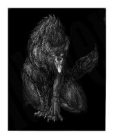 Crosshatch Werewolf by lurver