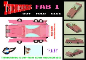 Thunderbirds - FAB 1 by mikedaws