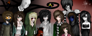 CREEPYPASTA FAMILY by xDark-Divine