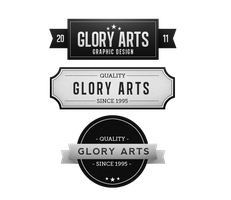 Glory Arts Vintage Logo Design by GloryArts