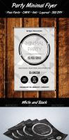 Minimal Party Flyer by artgh
