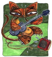Kitty Electric Guitar by Starstew