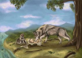 Romulus and Remus by winterqueen
