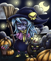 Halloween Coloring Contest 2014 - Icy Halloween by CaptainMetal