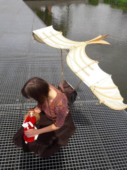 Ala's wings - display/carrying device top view by PuppitProductions