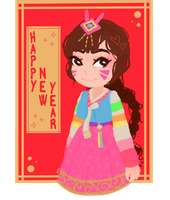 Happy new year! Love, D.va! by Matalemures