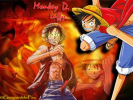 Wallpaper Luffy by GueparddeFeu