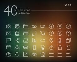 Web Outline Icons Set by dryopus