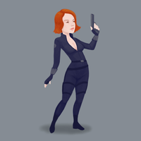 Black Widow by luisilustra