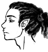 Male face sketch by Roots-Love