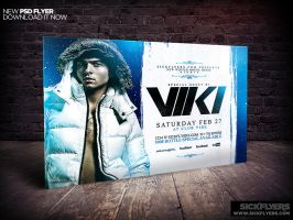 Winter Party Flyer Template Horizontal by Industrykidz