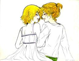 Kagamine Len and Rin Karakuri Burst by sweetlullaby01