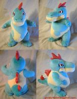 Croconaw Plushie by GrowlyLobita