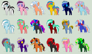 Super Free pony Adopts Batch 1 CLOSED by FaerieFoxAdopts