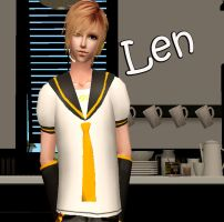 Kagamine Len in Sims 2 by NegativeDanna