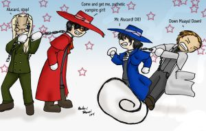 Red vs. Blue :Hellsing Art: by NeuroticCrow
