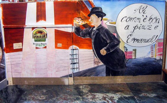 Mural Pizzeria Emanuel, Barletta IT by Michele-Laporta