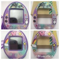Custom Kirby and Totoro Tamagotchi Faceplates by TiellaNicole