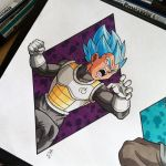 Vegeta Super Saiyan God Blue Tattoo Design by Hamdoggz