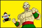 ten shin han y chaoz DBZ by minguinpingu05
