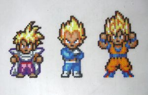 Dragon Ball Trio Bead Art by emelyjensen